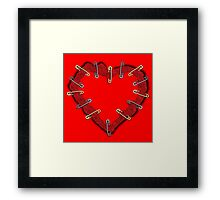 Holding my heart together Framed Print