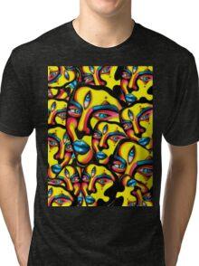 Gemini - Psychedelic Print  Tri-blend T-Shirt