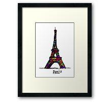Colorful Paris Eiffel Tower Framed Print