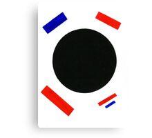 The Capitalist Black Square Canvas Print