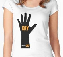 PornHub DIY Do It YourSelf Women's Fitted Scoop T-Shirt