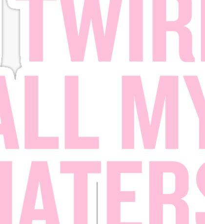I Twirl all my haters Sticker