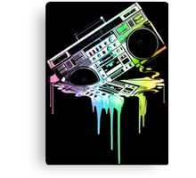 Melting Boombox (vintage distressed look) Canvas Print