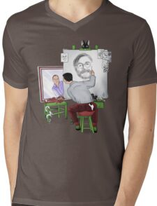 Animator self portrait Mens V-Neck T-Shirt