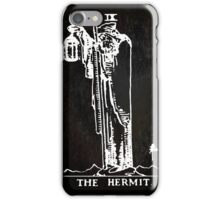 Tarot - The Hermit - Black iPhone Case/Skin