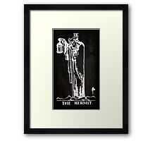 Tarot - The Hermit - Black Framed Print