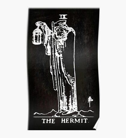 Tarot - The Hermit - Black Poster