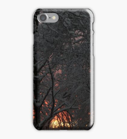 Snow Covered Sunset iPhone Case/Skin