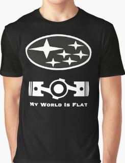 My World is Flat Subaru Graphic T-Shirt