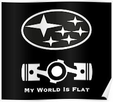 My World is Flat Subaru Poster