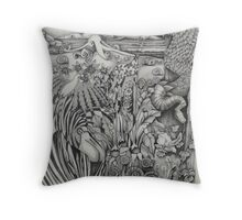 Kylie Douglass-Species Collide Throw Pillow