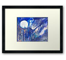 The Wind Blows a Kiss to the Moon Framed Print
