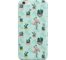 Botanical Wonder (blue version) iPhone Case/Skin