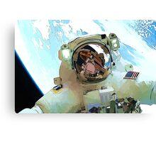 Space Walk - Astronaut Selfie Canvas Print