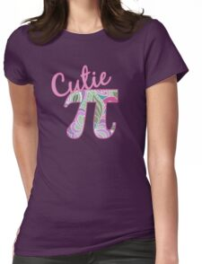 Cutie Pi Floral Pattern Math Symbol Womens Fitted T-Shirt