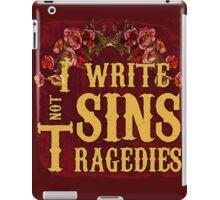 I Write Sins Not Tragedies Panic! At the Disco iPad Case/Skin