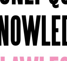 FLAWLESS QUEEN BEYONCE Sticker