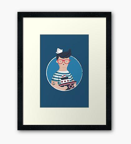 Funny Sailor Framed Print