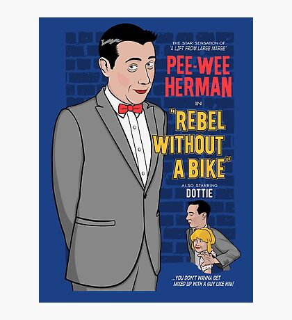 Rebel Without A Bike Photographic Print