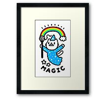 Magical Wizard Cat Framed Print