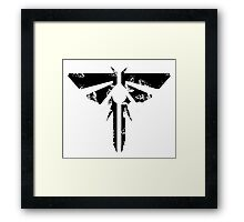 The Last of Us Grunge Firefly Emblem Framed Print