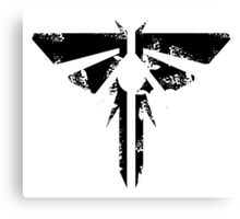 The Last of Us Grunge Firefly Emblem Canvas Print