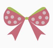 Polka Dot Bow Kids Tee