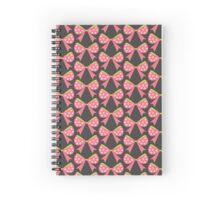 Polka Dot Bow Spiral Notebook