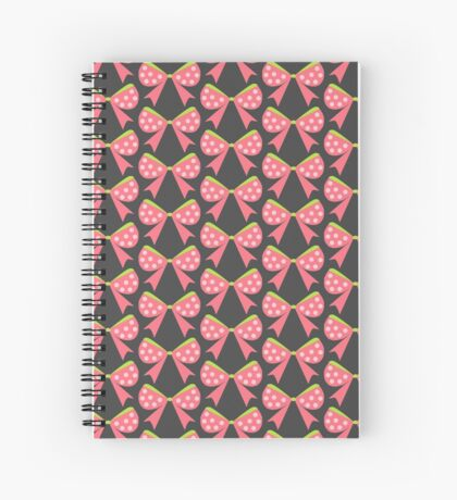 Polka Dot Bow Spiral Notebook