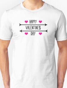 Happy Valentine$ Day - Black T-Shirt