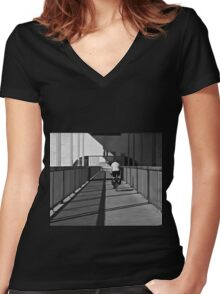 Commuter Women's Fitted V-Neck T-Shirt