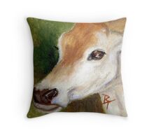 Jersey Cow aceo Throw Pillow