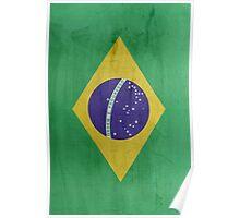 Flag Brazil Poster
