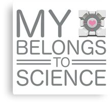 My Heart Belongs to Science ~ Companion Cube Canvas Print