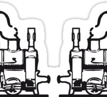 Steam Locomotives railroad small Sticker