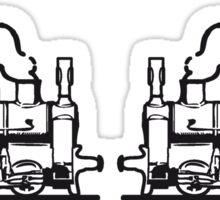 Steam Locomotives railroad small Sticker