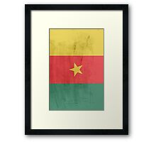 Flag cameroon Framed Print