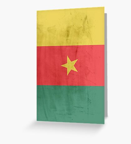 Flag cameroon Greeting Card
