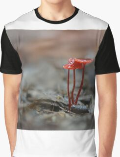 Red Mycena Graphic T-Shirt