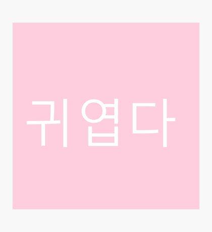 "Hangul ""Cute"" Writing Photographic Print"