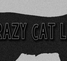 Crazy Cat Lady Silhouette Sticker