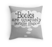 Stephen King Books Quote for Book Lovers Throw Pillow