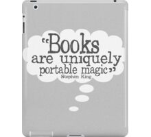Stephen King Books Quote for Book Lovers iPad Case/Skin