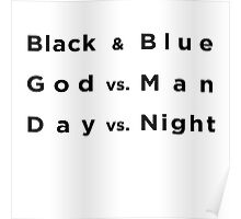 Black and Blue- Batman v Superman Poster