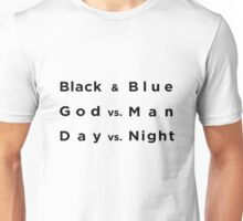 Black and Blue- Batman v Superman Unisex T-Shirt