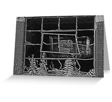 Bent Window - Keuka  Greeting Card