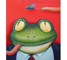 Frogman meal  Photographic Print