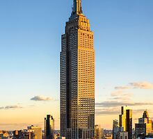 Empire State Building At Dusk by Randy  LeMoine