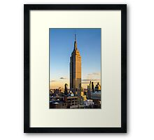Empire State Building At Dusk Framed Print