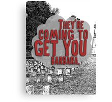 Zombies and Zombie Lovers Cemetary Canvas Print